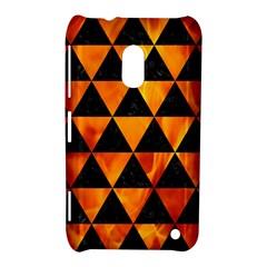 Triangle3 Black Marble & Fire Nokia Lumia 620 by trendistuff