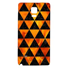 Triangle3 Black Marble & Fire Galaxy Note 4 Back Case by trendistuff