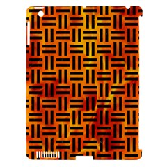 Woven1 Black Marble & Fire (r) Apple Ipad 3/4 Hardshell Case (compatible With Smart Cover) by trendistuff