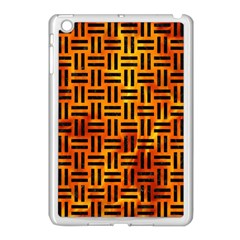 Woven1 Black Marble & Fire (r) Apple Ipad Mini Case (white) by trendistuff