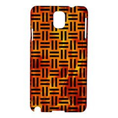 Woven1 Black Marble & Fire (r) Samsung Galaxy Note 3 N9005 Hardshell Case by trendistuff