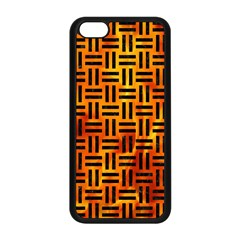 Woven1 Black Marble & Fire (r) Apple Iphone 5c Seamless Case (black) by trendistuff