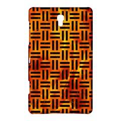 Woven1 Black Marble & Fire (r) Samsung Galaxy Tab S (8 4 ) Hardshell Case