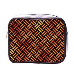 Woven2 Black Marble & Fire Mini Toiletries Bags by trendistuff