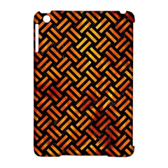Woven2 Black Marble & Fire Apple Ipad Mini Hardshell Case (compatible With Smart Cover)