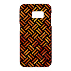 Woven2 Black Marble & Fire Samsung Galaxy S7 Hardshell Case  by trendistuff