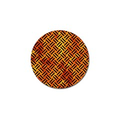 Woven2 Black Marble & Fire (r) Golf Ball Marker (10 Pack) by trendistuff