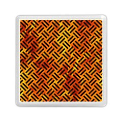Woven2 Black Marble & Fire (r) Memory Card Reader (square)