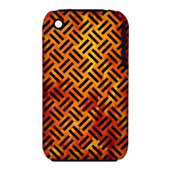 Woven2 Black Marble & Fire (r) Iphone 3s/3gs by trendistuff