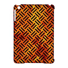 Woven2 Black Marble & Fire (r) Apple Ipad Mini Hardshell Case (compatible With Smart Cover) by trendistuff