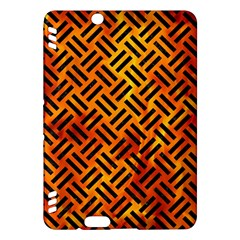 Woven2 Black Marble & Fire (r) Kindle Fire Hdx Hardshell Case by trendistuff