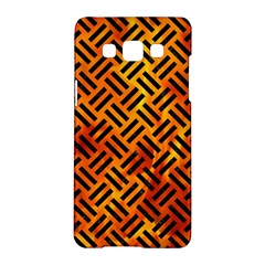 Woven2 Black Marble & Fire (r) Samsung Galaxy A5 Hardshell Case  by trendistuff