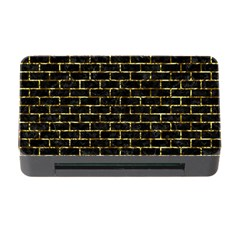 Brick1 Black Marble & Gold Foil Memory Card Reader With Cf by trendistuff