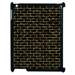 Brick1 Black Marble & Gold Foil Apple Ipad 2 Case (black) by trendistuff