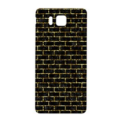 Brick1 Black Marble & Gold Foil Samsung Galaxy Alpha Hardshell Back Case by trendistuff