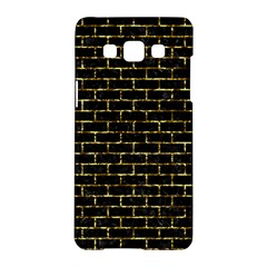 Brick1 Black Marble & Gold Foil Samsung Galaxy A5 Hardshell Case  by trendistuff