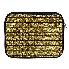 Brick1 Black Marble & Gold Foil (r) Apple Ipad 2/3/4 Zipper Cases by trendistuff