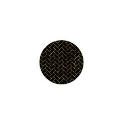 Brick2 Black Marble & Gold Foil 1  Mini Magnets by trendistuff