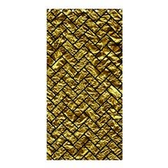 Brick2 Black Marble & Gold Foil (r) Shower Curtain 36  X 72  (stall)  by trendistuff