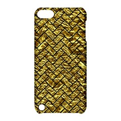 Brick2 Black Marble & Gold Foil (r) Apple Ipod Touch 5 Hardshell Case With Stand by trendistuff