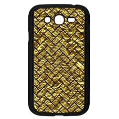 Brick2 Black Marble & Gold Foil (r) Samsung Galaxy Grand Duos I9082 Case (black) by trendistuff