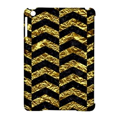 Chevron2 Black Marble & Gold Foil Apple Ipad Mini Hardshell Case (compatible With Smart Cover) by trendistuff