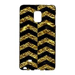 Chevron2 Black Marble & Gold Foil Galaxy Note Edge by trendistuff