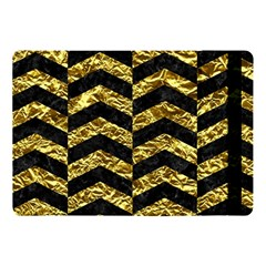 Chevron2 Black Marble & Gold Foil Apple Ipad Pro 10 5   Flip Case by trendistuff