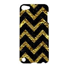 Chevron9 Black Marble & Gold Foil Apple Ipod Touch 5 Hardshell Case by trendistuff