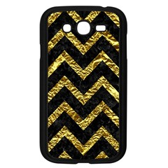 Chevron9 Black Marble & Gold Foil Samsung Galaxy Grand Duos I9082 Case (black) by trendistuff