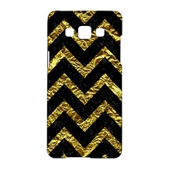 Chevron9 Black Marble & Gold Foil Samsung Galaxy A5 Hardshell Case  by trendistuff