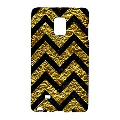 Chevron9 Black Marble & Gold Foil (r) Galaxy Note Edge by trendistuff