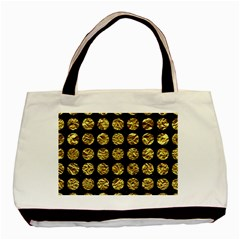 Circles1 Black Marble & Gold Foil Basic Tote Bag (two Sides) by trendistuff