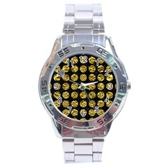 Circles1 Black Marble & Gold Foil Stainless Steel Analogue Watch by trendistuff