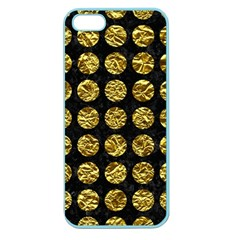 Circles1 Black Marble & Gold Foil Apple Seamless Iphone 5 Case (color) by trendistuff
