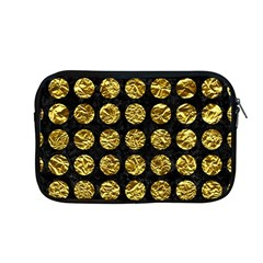 Circles1 Black Marble & Gold Foil Apple Macbook Pro 13  Zipper Case by trendistuff