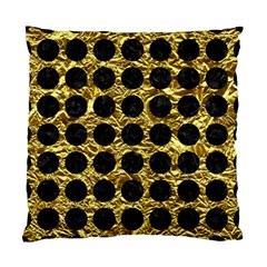 Circles1 Black Marble & Gold Foil (r) Standard Cushion Case (two Sides) by trendistuff