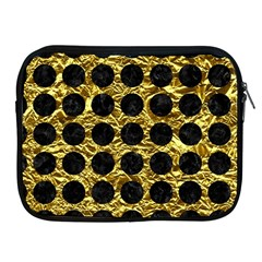 Circles1 Black Marble & Gold Foil (r) Apple Ipad 2/3/4 Zipper Cases by trendistuff
