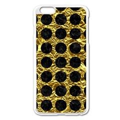 Circles1 Black Marble & Gold Foil (r) Apple Iphone 6 Plus/6s Plus Enamel White Case by trendistuff