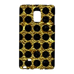 Circles1 Black Marble & Gold Foil (r) Galaxy Note Edge by trendistuff
