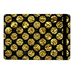 Circles2 Black Marble & Gold Foil Samsung Galaxy Tab Pro 10 1  Flip Case by trendistuff