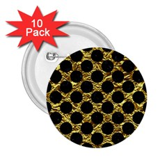 Circles2 Black Marble & Gold Foil (r) 2 25  Buttons (10 Pack)  by trendistuff