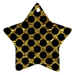 Circles2 Black Marble & Gold Foil (r) Star Ornament (two Sides) by trendistuff