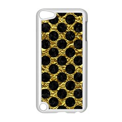 Circles2 Black Marble & Gold Foil (r) Apple Ipod Touch 5 Case (white) by trendistuff