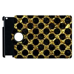 Circles2 Black Marble & Gold Foil (r) Apple Ipad 2 Flip 360 Case by trendistuff