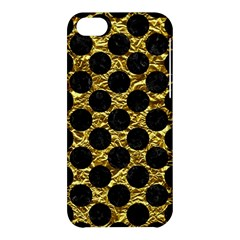 Circles2 Black Marble & Gold Foil (r) Apple Iphone 5c Hardshell Case by trendistuff