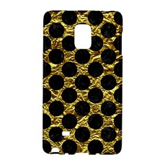 Circles2 Black Marble & Gold Foil (r) Galaxy Note Edge by trendistuff