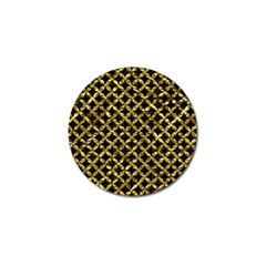 Circles3 Black Marble & Gold Foil Golf Ball Marker (10 Pack) by trendistuff