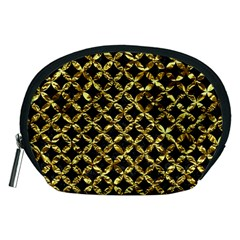 Circles3 Black Marble & Gold Foil Accessory Pouches (medium)  by trendistuff