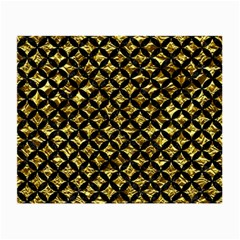 Circles3 Black Marble & Gold Foil (r) Small Glasses Cloth by trendistuff
